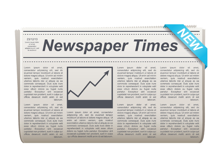 Folded newspaper vector icon with type and picture Stock Illustratie