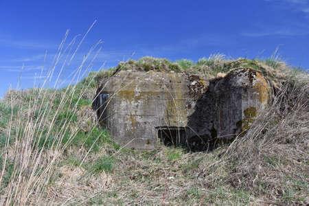 bunker: Concrete Bunker near Slavonice in Southern Moravia, Czech Republic
