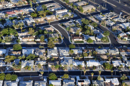 luft: Typische amerikanische Vorstadtsiedlung aus der Luft