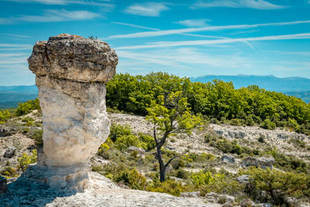 Mushroom rocks calles les mourres near Forcalquier, France