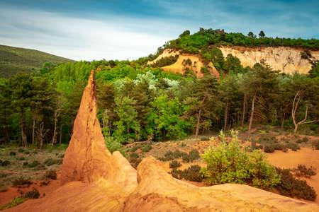 The ocher rocks of Colorado Proven?al in Rustrel, Provence, France