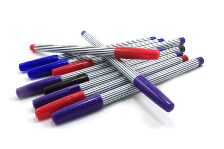 marking up: Colorful pens Stock Photo