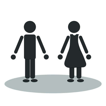 man and woman Stock Vector - 21926481