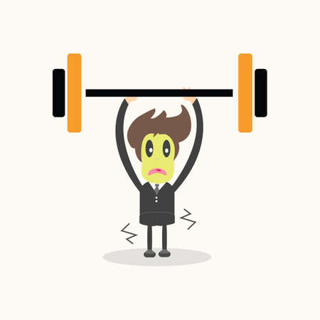 weightlifter,business man. Vector