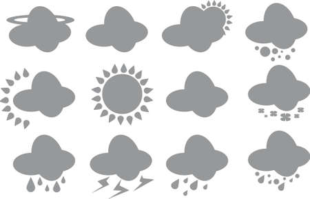 Weather icons Stock Vector - 23715278