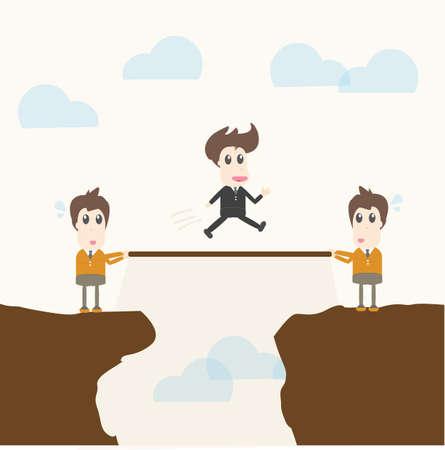 Teamwork,businessman Illustration