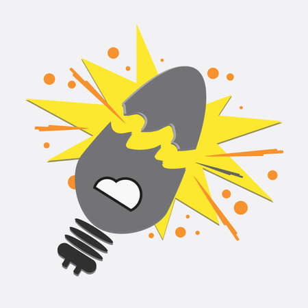luminary: broken light bulb Illustration