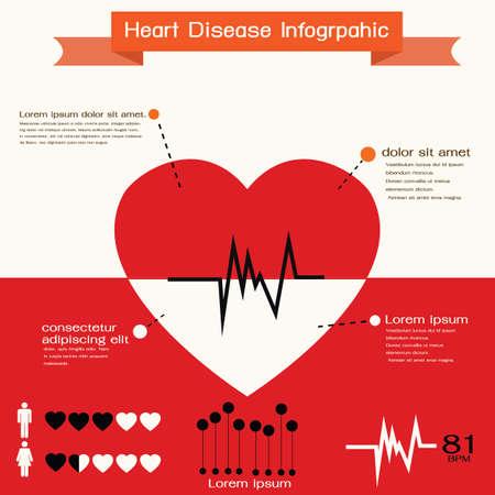 심장 인포 그래픽 일러스트