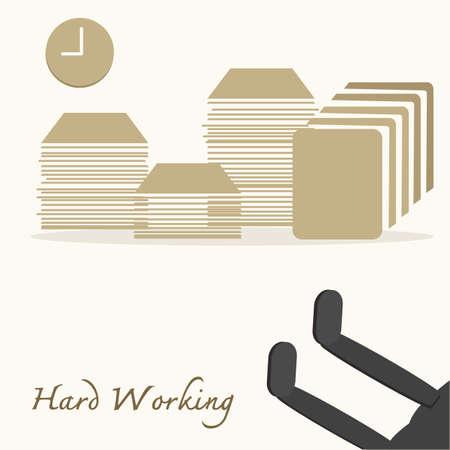 Hard Working Stock Vector - 23715105