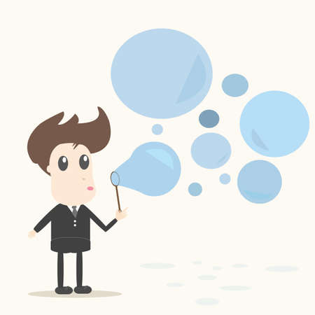 Blowing bubbles Vector