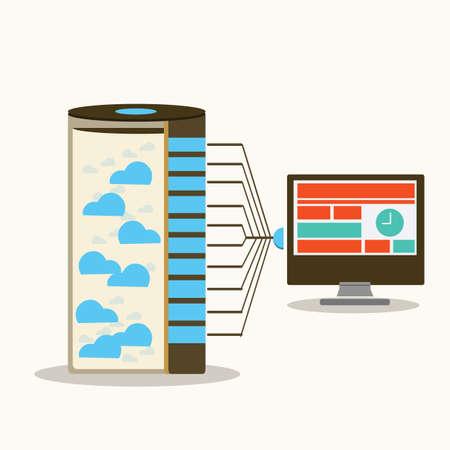 서버 및 워크 스테이션 컴퓨팅 일러스트