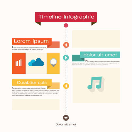 Timeline Web Element Template  Vector illustration Vector