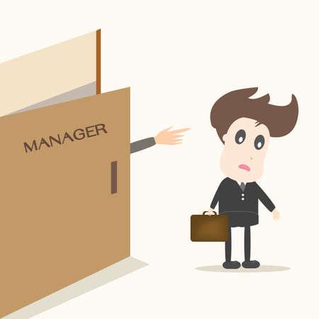 downsizing: unemployment Illustration