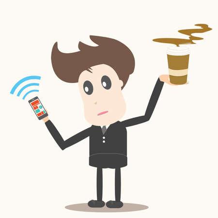 social network,businessman Vector