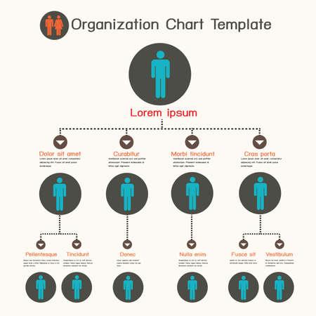 corporate hierarchy: Modello Organigramma