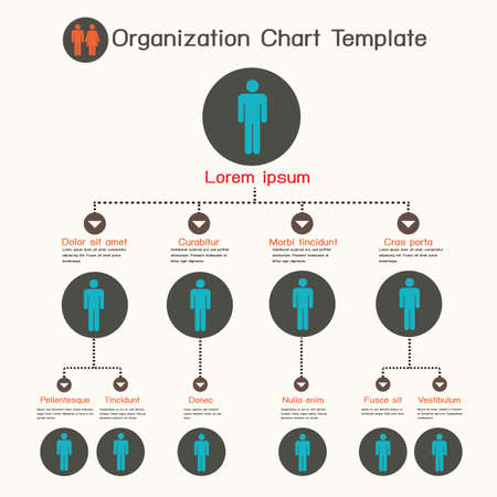 corporate hierarchy: Organization chart template