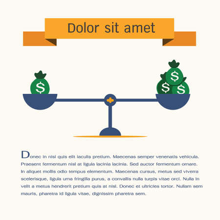 balance concept: scales symbol,vector,infographic.