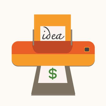 메이크업 돈, 개념과 아이디어. 일러스트