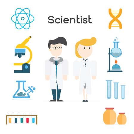 Scientist illustration  Vector