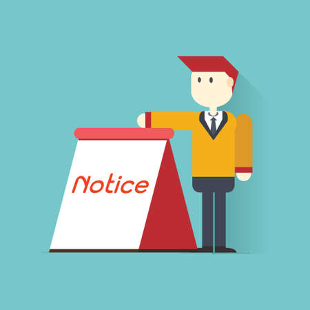 Businessman showing an empty board ,vector,illustration  Vector
