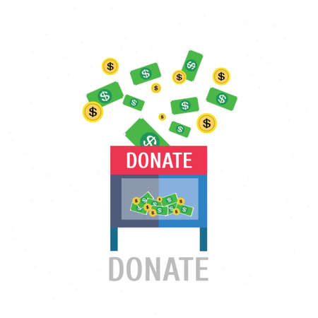 contributing: Donation,vector,illustration.