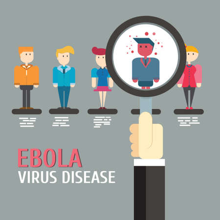 ebola: Scan Ebola virus disease,vector,illustration.