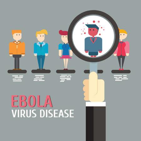 Scan Ebola virus disease,vector,illustration.