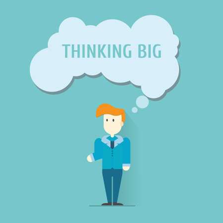 Think big,vector,illustration.