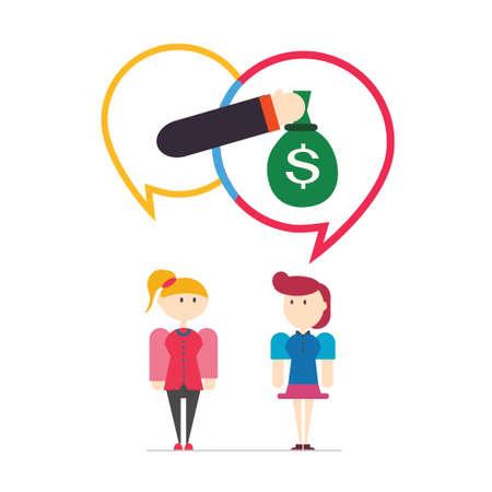Customer feedback,speech bubbles,vector,illustration. Vector
