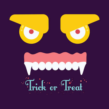 trick or tread: Trick or tread. Vector Illustration of Halloween background.