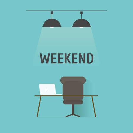 weekend,vector,illustration. Vector