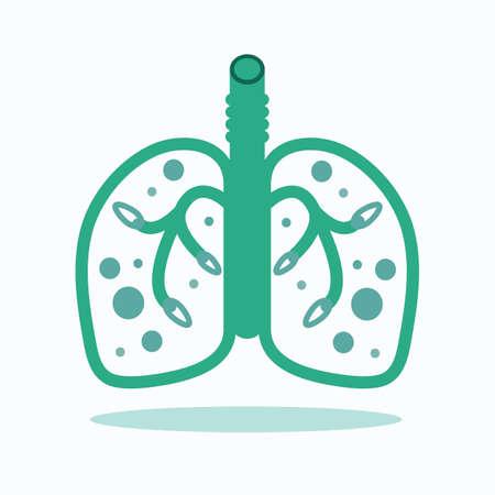 건강 한 lungs.vector, 그림입니다.