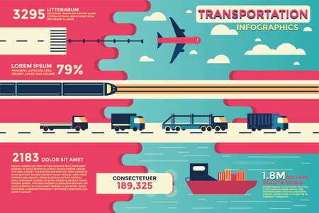 교통 infographics입니다, 벡터, 그림. 일러스트
