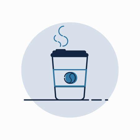 커피 컵, 그림, 벡터입니다.