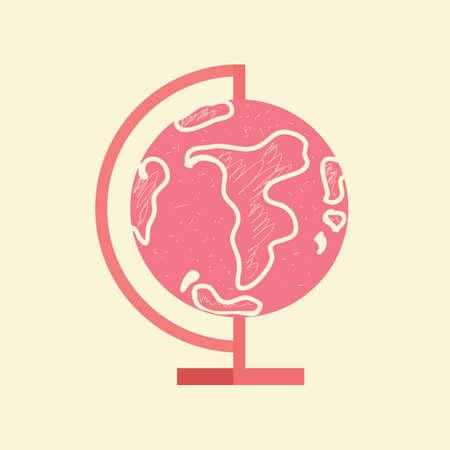 세계 글로브의 평면 디자인