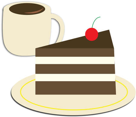 vectorrn: cup of coffee and cake