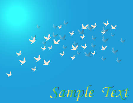 flying birds Ilustração