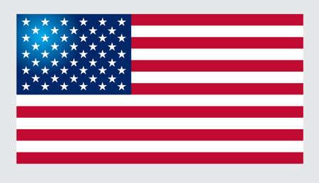 bandera blanca: Bandera americana para el Día de la Independencia. Ilustración del vector.
