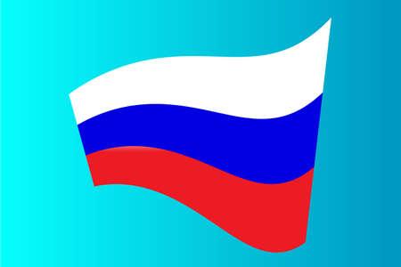 russia: Flag of Russia. Illustration