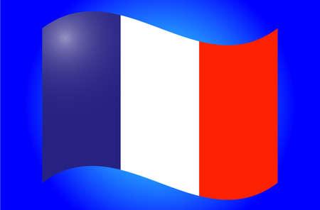 spangled: flag France