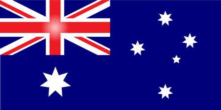 bandera blanca: bandera de australia Vectores