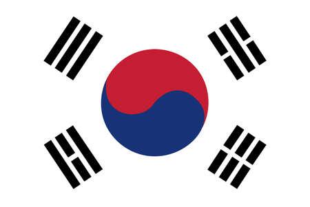 south asian: South Korea Flag Illustration