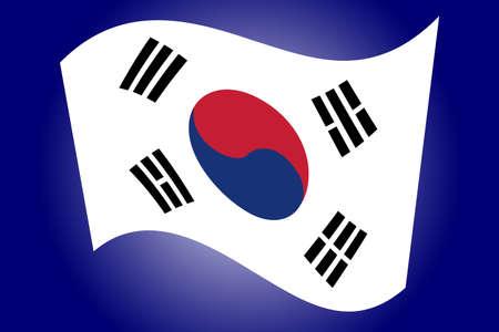 korea flag: South Korea Flag Illustration