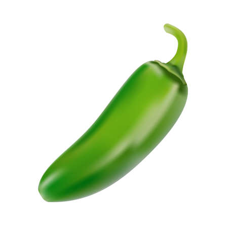Close-up of chilli pepper on white background Иллюстрация