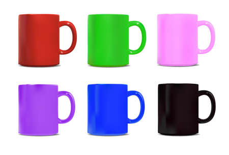 6 cup in colour Illustration