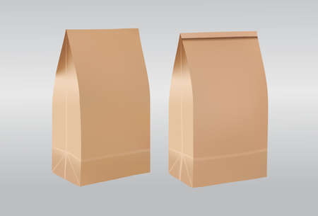 paper bags: paper bags on white background Illustration