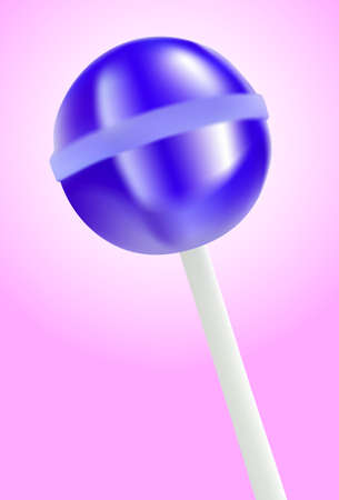lick: purple lollipop on pink background