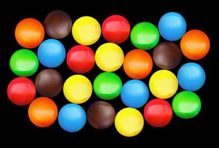 Close up of a pile of colorful chocolate coated candy Illustration