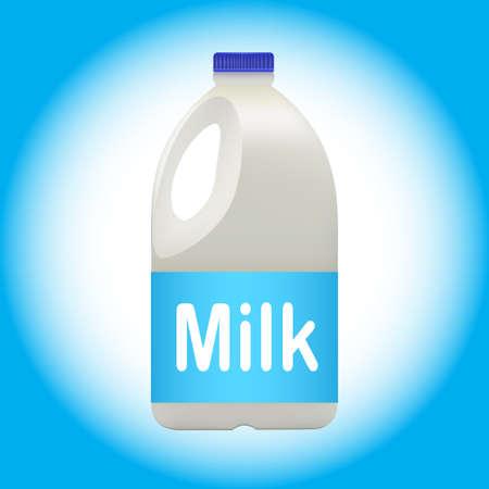 Galón de leche en el fondo azul