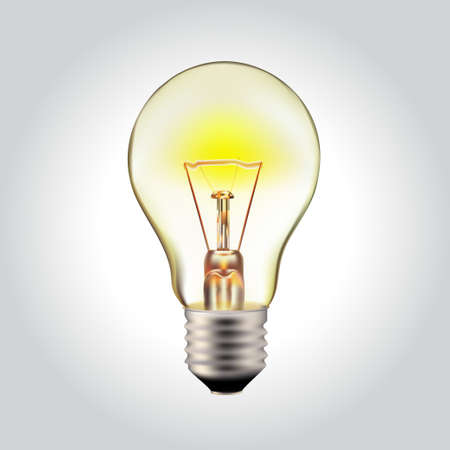 glowing-yellow-light-bulb-realistic-photo-image-turn-on-tungsten-light-bulb-isolated-on-white Illustration